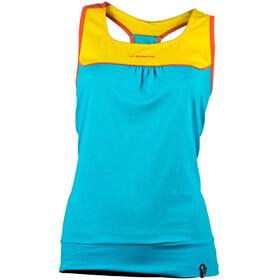 La Sportiva W's Momentum Tank Top Malibu Blue/Yellow